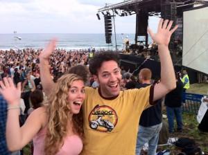 אני ואחותי איילת בחוף הצוק